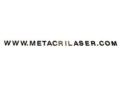 Dirección web en metacrilato