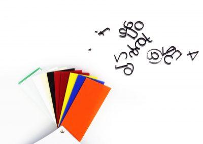 ejemplos colores y corte metacrilato