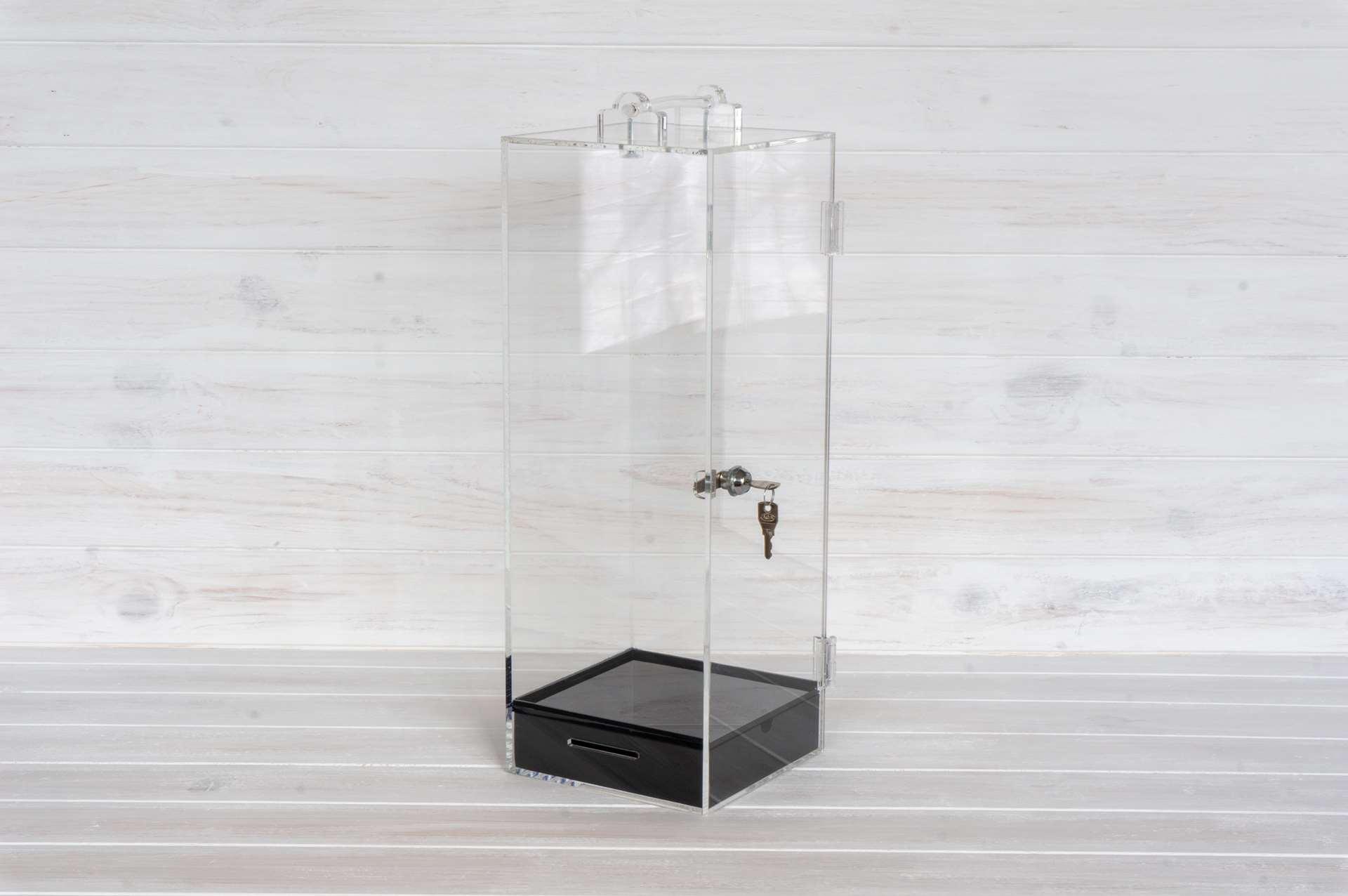 urna figura cerradura metacrilato